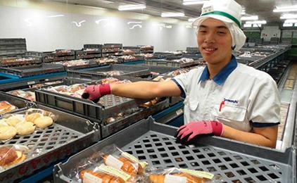 山崎製パン株式会社 岡山工場製品管理画像