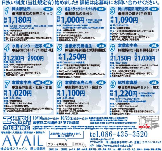 株式会社アヴェイル岡山営業所携帯電話の販売スタッフ画像