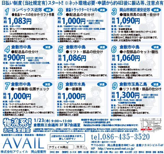 株式会社アヴェイル岡山営業所食品ケースの仕分け・リフト作業画像