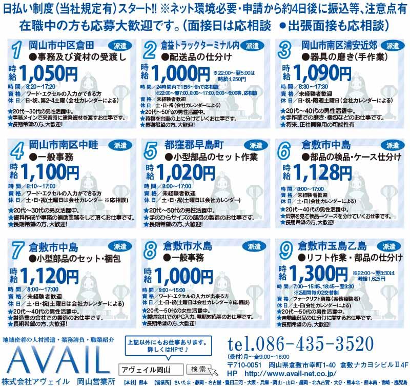株式会社アヴェイル岡山営業所小型部品のセット・梱包画像