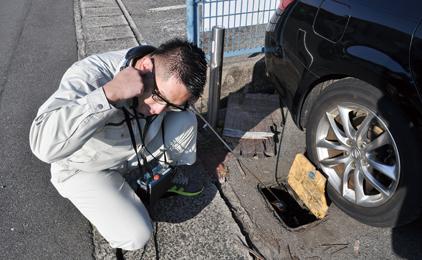 フジ地中情報株式会社水道管の現場調査画像